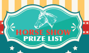 Horse Show Prize List