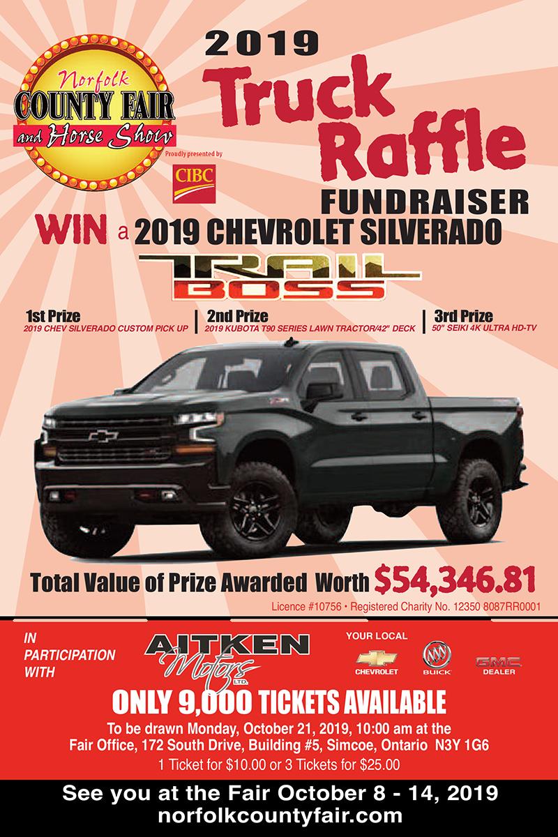 2019 Truck Raffle Poster