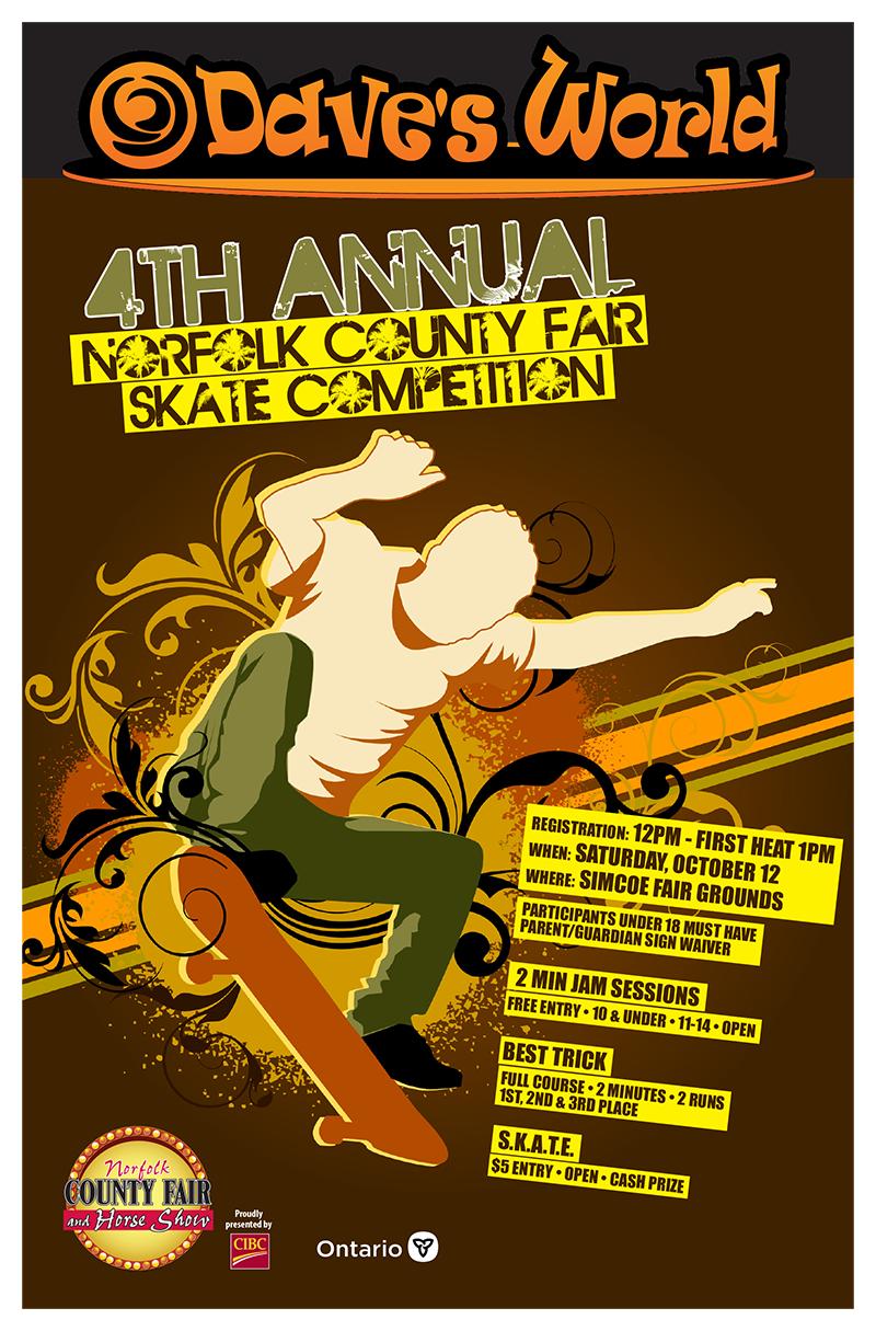 Dave's World Skate Poster